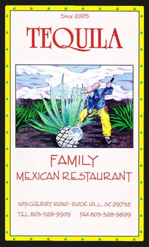 Tequila Family Mexican Restaurant Menu
